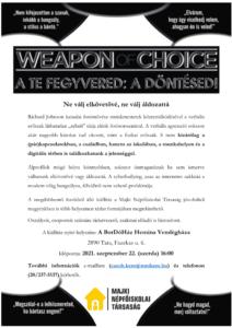 Weapon of Choice – megyei bemutató
